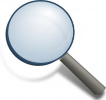 copyediting magnifying glass